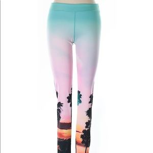 So Yoga | Tropical Print Yoga Leggings